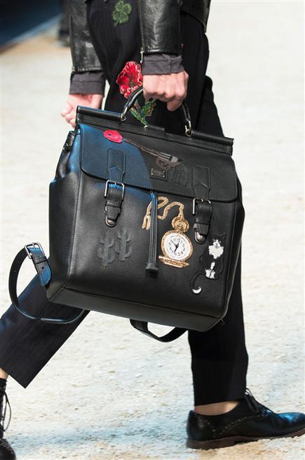 Borsa nera ampia da uomo. Dolce & Gabbana