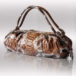 Luxury python brown bag