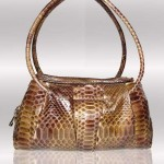 Italian python handbag