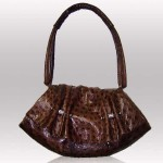 Ostrich brown color bag