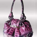 Pyrple python leather handbag