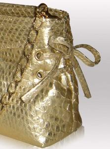 Gold handbags