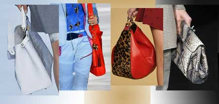 Fashionable styles of handbags