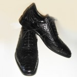 Black python shoes SF20