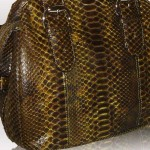 SUNFLOWER color of python leather
