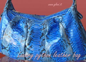 Electric blue luxury handbag