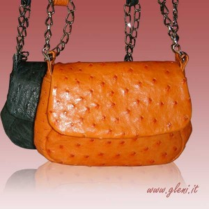 Small ostrich leather purses