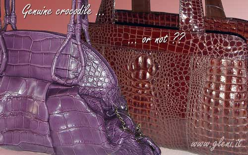 Genuine crocodile handbags or not?