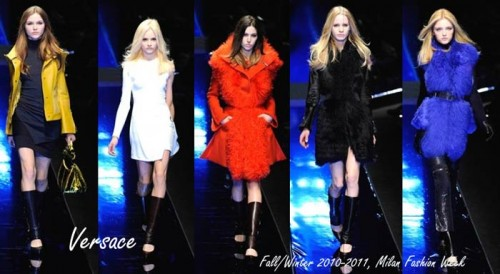Versace Fall/Winter 2010-2011, MIlan Fashion week