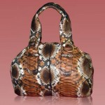 Luxury python Trunk bag