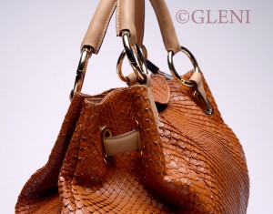 Anaconda leather handbag