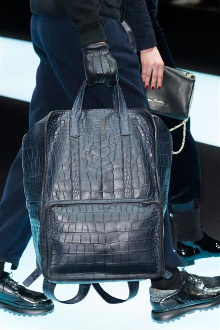 Giorgio Armani. Luxury alligator bag