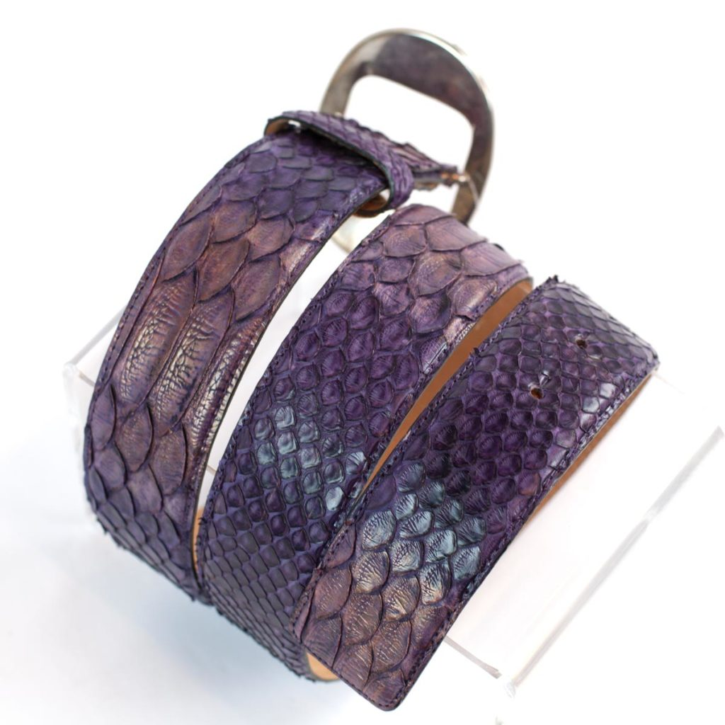 Color of the year 2018, belt in genuine python leather GLENI