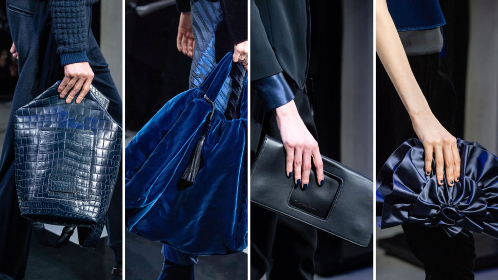 Giorgio Armani handbags from Milano Fashion week