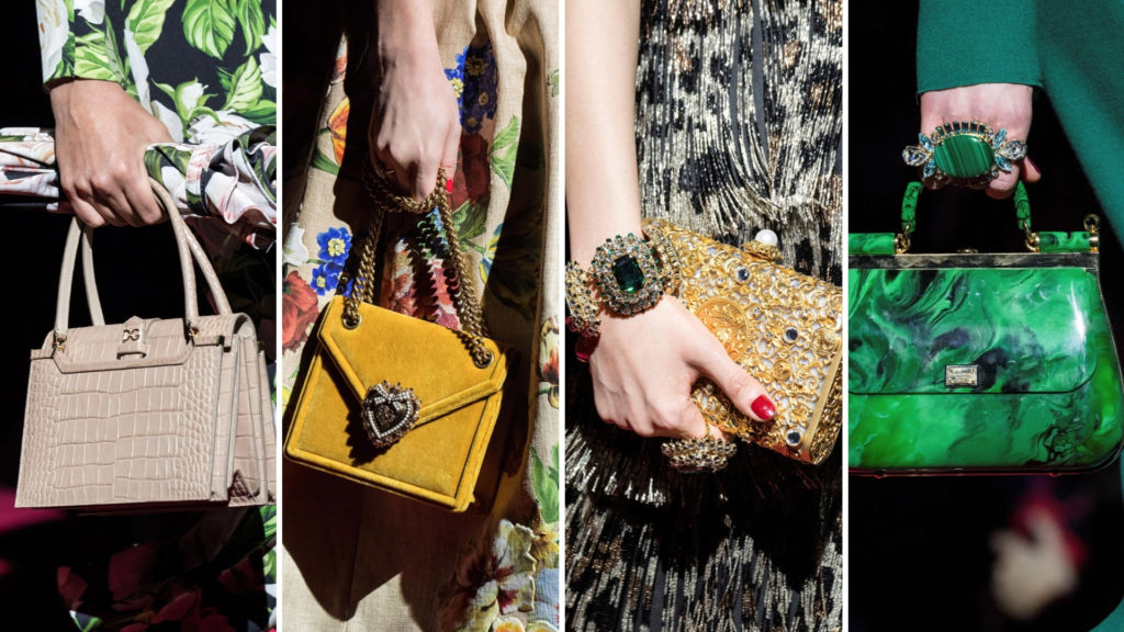 Milano Fashion week bags by Dolce & Gabbana
