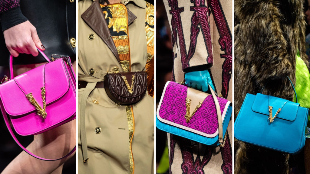 Milano Fashion Week handbags by Versace