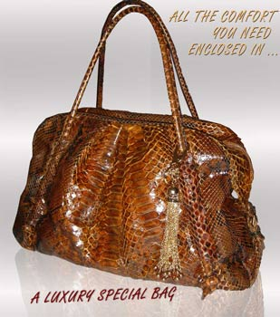 python luxury special tote bag
