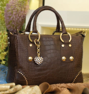 Alligator luxury handbag