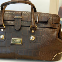 Crocodile and alligator handbags