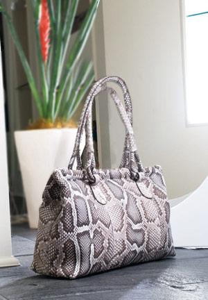 Luxury python skin handbag