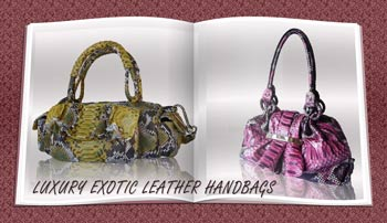 Luxury exotic leather handbags