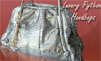 Luxury Python handbags