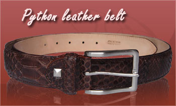 Custome made fashion python leather belts
