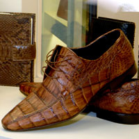 PYTHON AND CROCODILE MEN'S SHOES